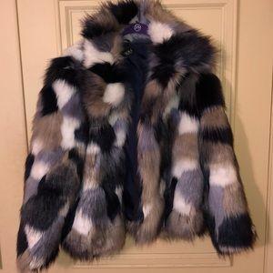 AKIRA faux fur jacket